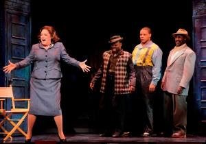 "Texas native Julie Johnson stars as ""Mama"" in MEMPHIS. Photo by Paul Kolnik."