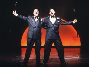 THE PRODUCERS starred Nathan Lane (left) and Matthew Broderick.