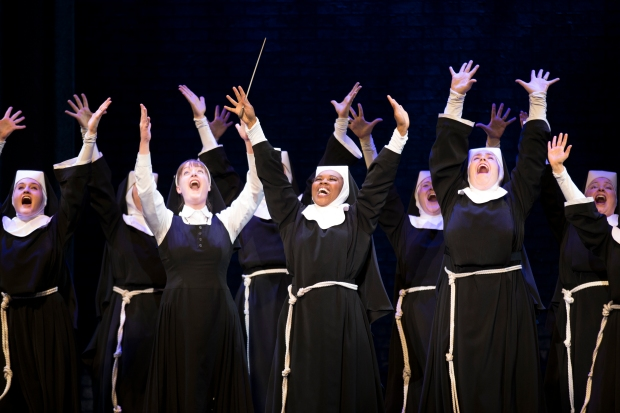 Raise your hands if you want to win tickets to SISTER ACT! Photo: Joan Marcus.