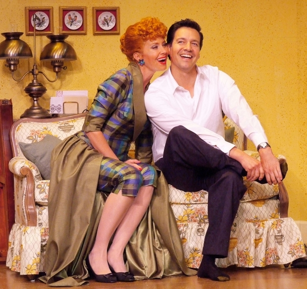 Sirena Irwin as Lucy and Bill Mendieta as Ricky in  I LOVE LUCY® LIVE ON STAGE (Photo by JustinBarbin.com).