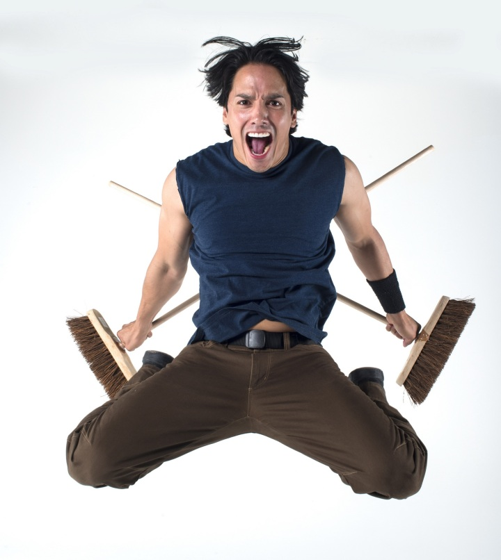 Fort Worth native John Angeles will be a featured performer in STOMP, returning to Bass Hall April 8-13. Photo: Steve McNicholas.
