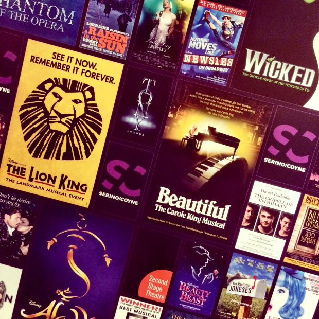 Those entering panel discussions were greeted by this cool display advertising new and classic Broadway shows.