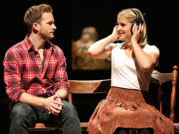 Stuart Ward as Guy, Dani De Waal as Girl, in ONCE.