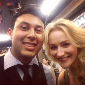 Jacob met BULLETS OVER BROADWAY's Betsy Wolfe.
