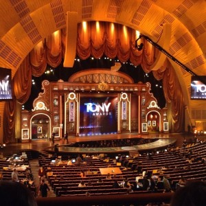 The beautiful stage at Radio City Music Hall.