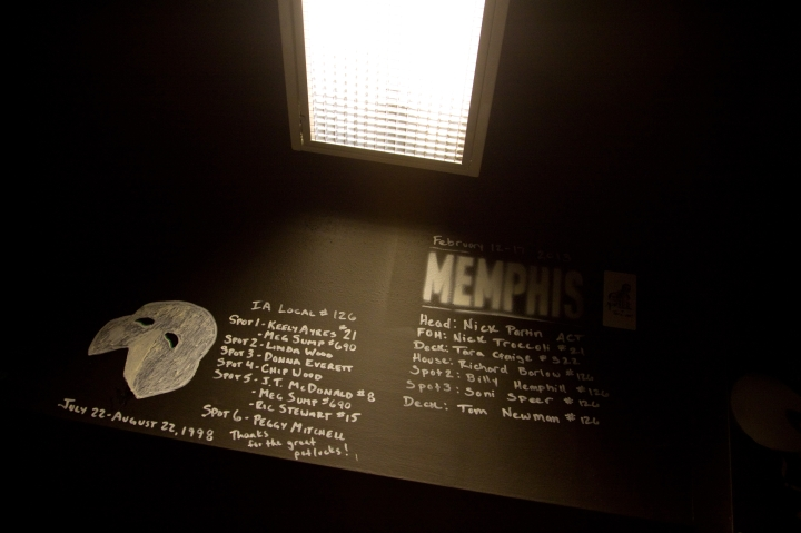 """Phantom of the Opera and Memphis left behind their stenciled """"signatures."""" Photo by Jill Johnson."""