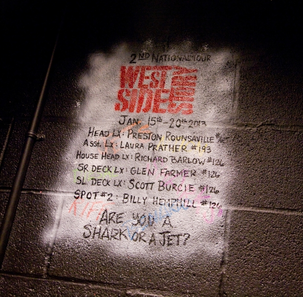 Signatures from the second national tour of West Side Story, 2013.