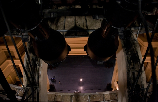 A peek at the Bass Hall stage, from the center of the dome. Photo by Jill Johnson. (Click to enlarge)