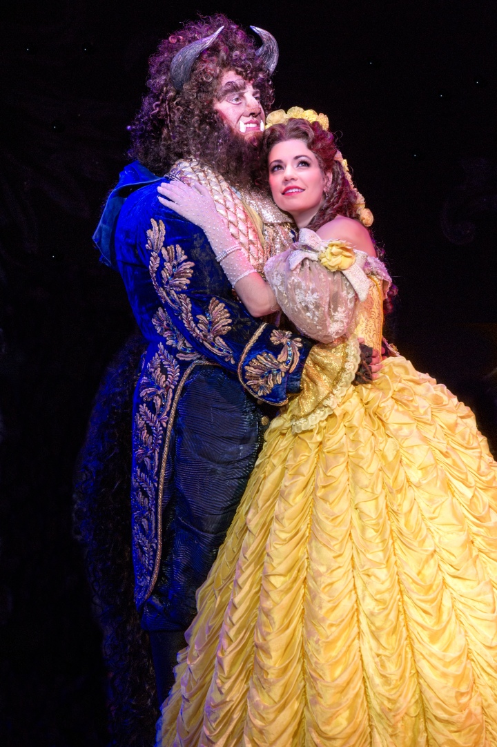Darick Pead as Beast and Hilary Maiberger as Belle in DISNEY'S BEAUTY AND THE BEAST, returning to Bass Hall Jan. 14-18, 2015. Photo by Amy Boyle.