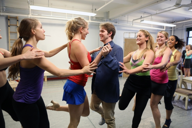 Cast members rehearse for the upcoming tour of NICE WORK IF YOU CAN GET IT. Photo by Jeremy Daniel.