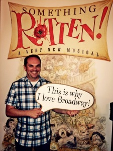 Performing Arts Fort Worth Marketing Director Jason Wise at SOMETHING ROTTEN!