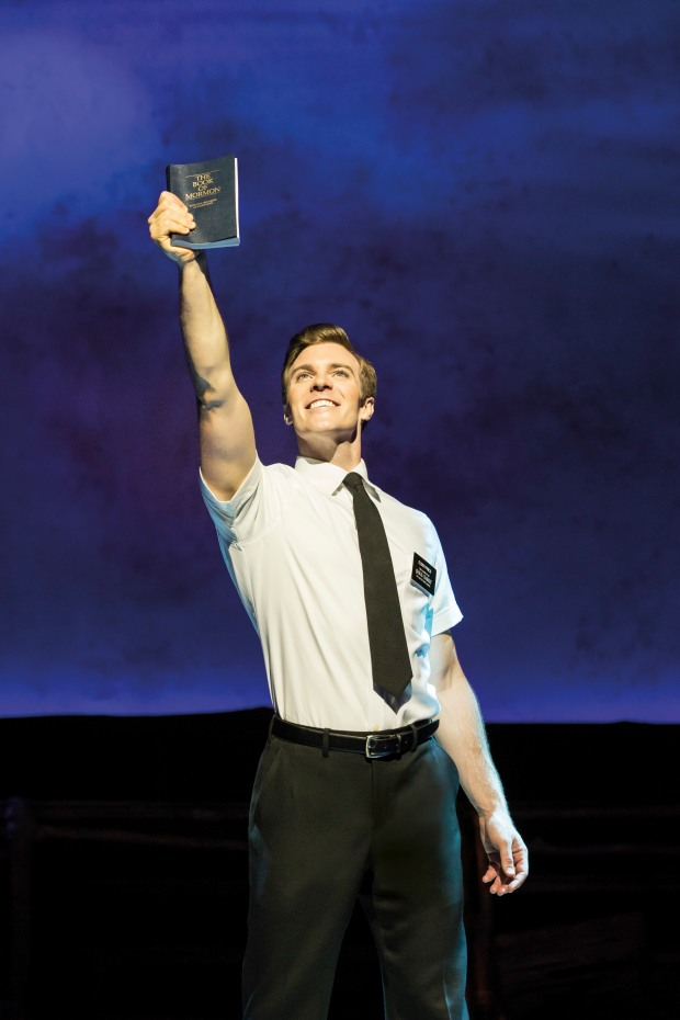 Billy Harrigan in THE BOOK OF MORMON. Photo: Johan Persson.