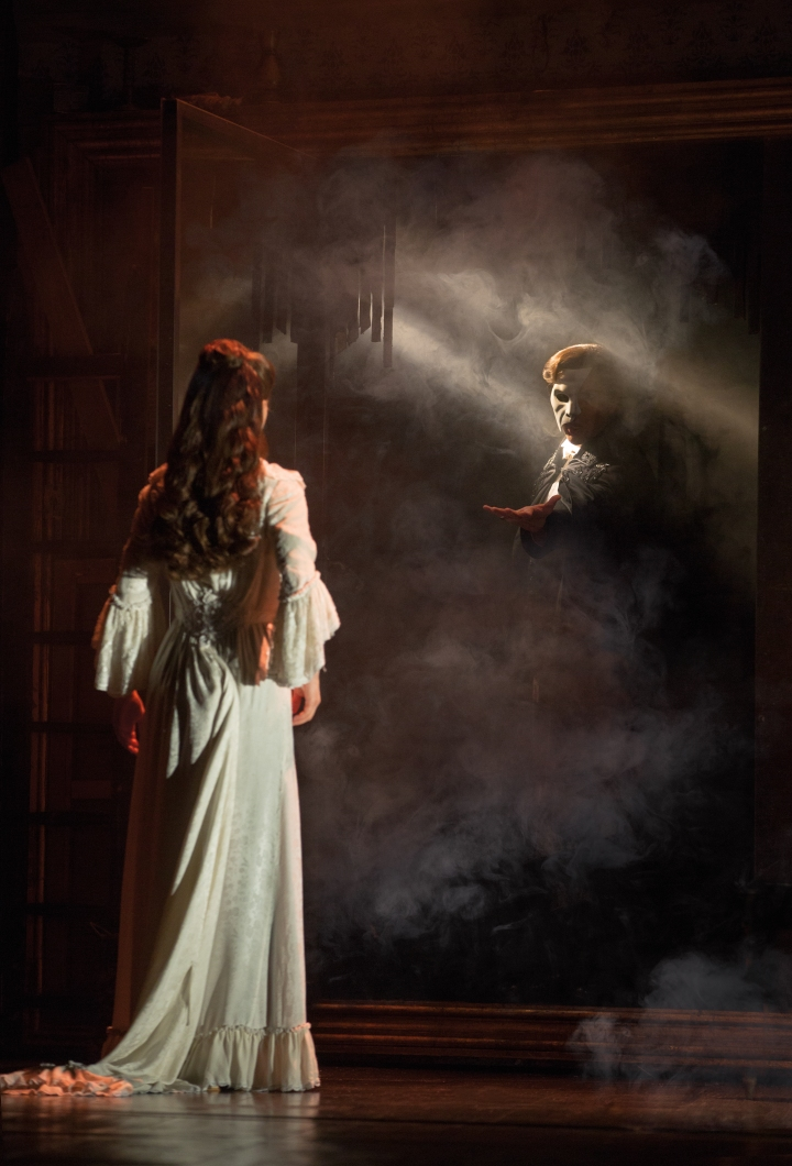 Katie Travis and Chris Mann in THE PHANTOM OF THE OPERA. Photo: Matthew Murphy.