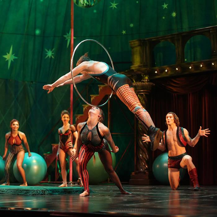 Pippin's gravity-defying stunts were created by Gypsy Snider. Photo: Joan Marcus.
